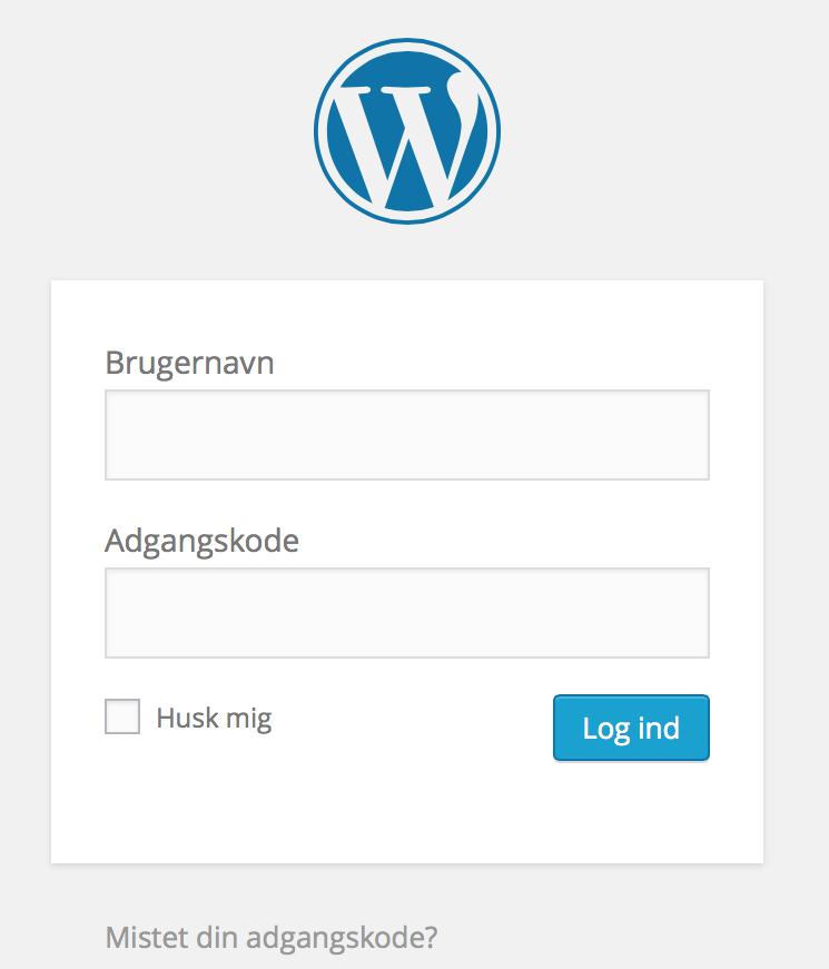 login-ind-paa-din-nye-hjemmeside