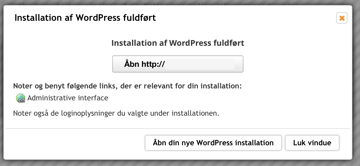 wordpress-installation-fuldfoert